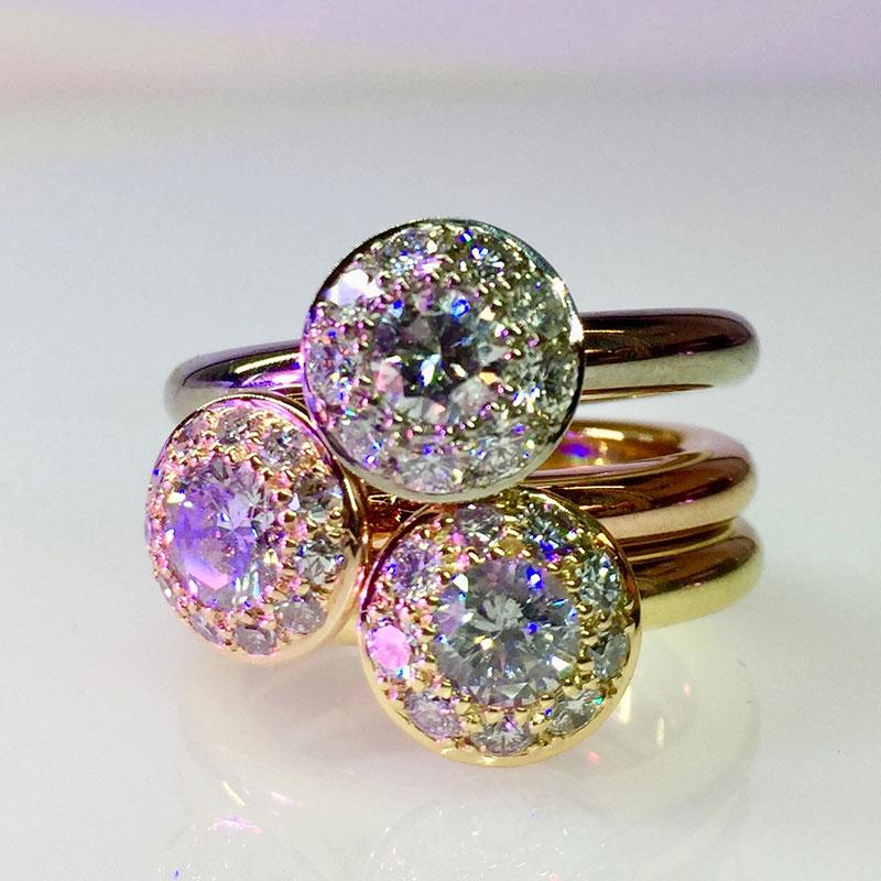 Verlobungsringe mit verschiedenen Steinen